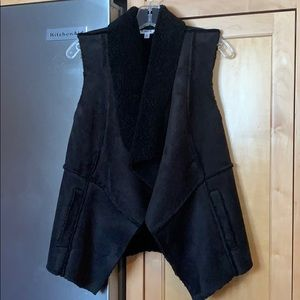 BB Dakota faux suede and shearling vest